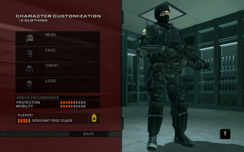 Rainbow Six Vegas 2 Character Customization