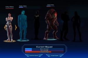 Mass Effect Squad Selection