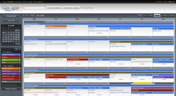Google Calendar Skins and Themes