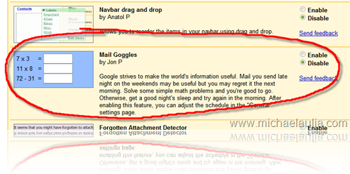 Gmail Mail Goggles