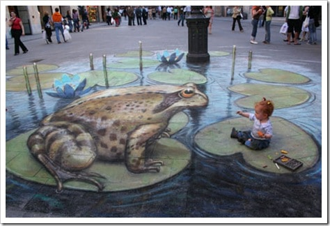 3D Chalk Drawings by Julian Beever