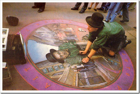 3D Chalk Drawings by Julian Beever - mirror