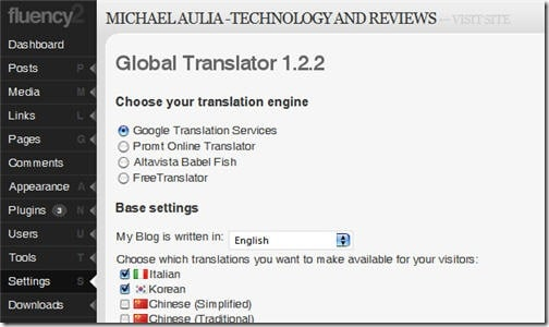 global translator plugin settings