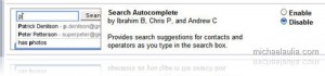 Autocomplete search in Gmail