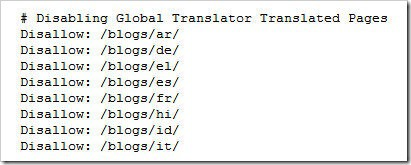 uninstall global translator using robots.txt
