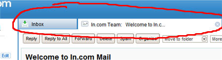 email inbox tabs