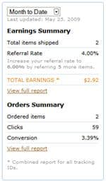 first earnings at amazon