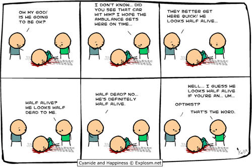 Cyanide and Happiness comic strips - ambulance joke
