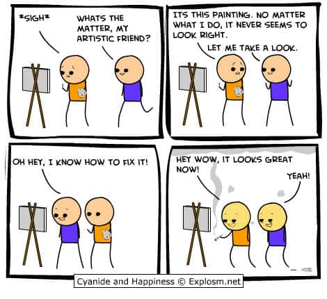 Cyanide and Happiness comic strips - feeling high joke