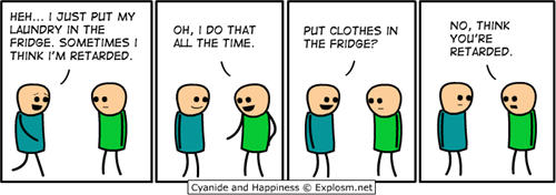 Cyanide and Happiness comic strips -laundry joke