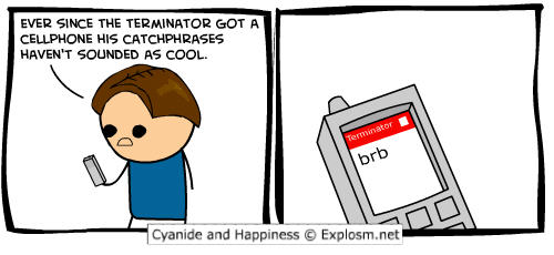 Cyanide and Happiness comic strips - terminator joke