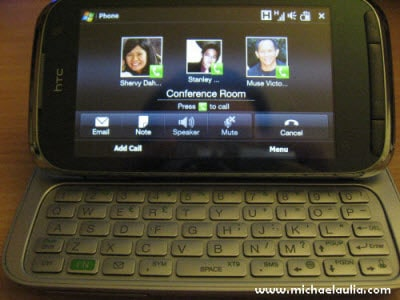 htc touch pro 2 conference call