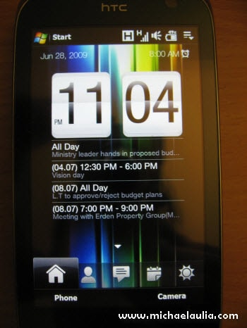 htc touch pro 2 review - interface