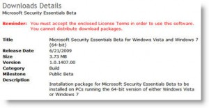 Microsoft Security Essentials available at Microsoft Connect
