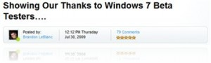 A nice present to Windows 7 Beta Testers
