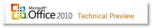 microsoft office 2010 technical preview