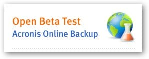 Acronis Online Backup Beta Registration