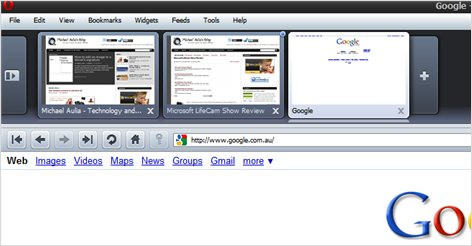 Opera 10 Resized Tabs