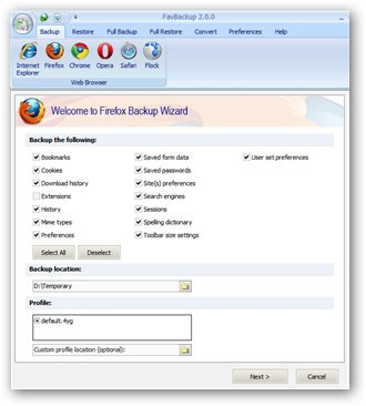 How to Backup Firefox