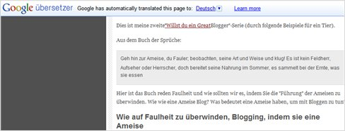 How to add Google Translator to your site/blog and test that it works