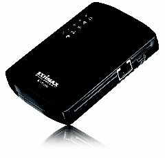 Edimax wireless router on battery
