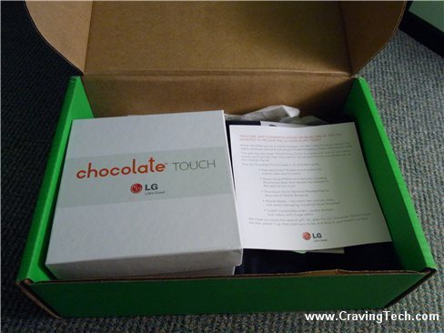 LG Chocolate Touch package