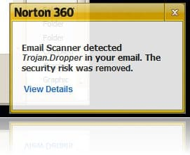 Norton 360 detect trojans in email