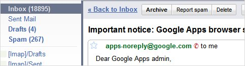 Google Apps not supporting IE6