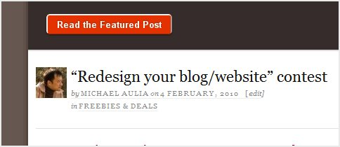 Redesign your blog contest