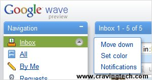 Google Wave email notification setting
