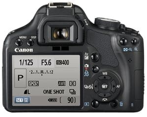 Canon EOS 500D Review - LCD Screen