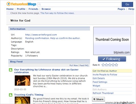 Autopost wordpress post to facebook fan page