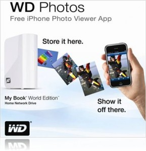 WD photo viewer for iPhone and iPod Touch