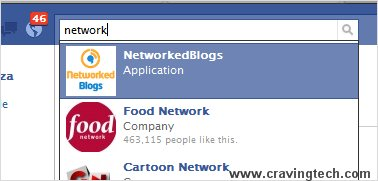 search and add Facebook application