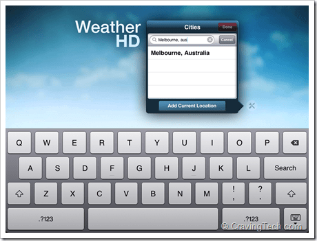 Weather HD Review - search city