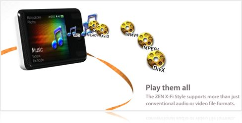 Zen X-Fi Style Review - Audio and Video formats
