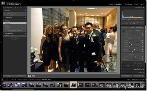 Adobe Lightroom 3 Interface