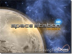 Space Station Frontier HD Review - main menu