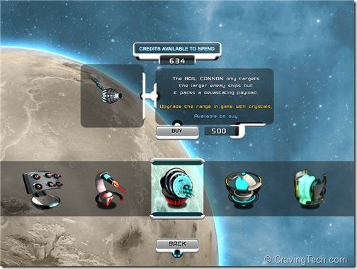 Space Station Frontier HD Review - unlock weapons