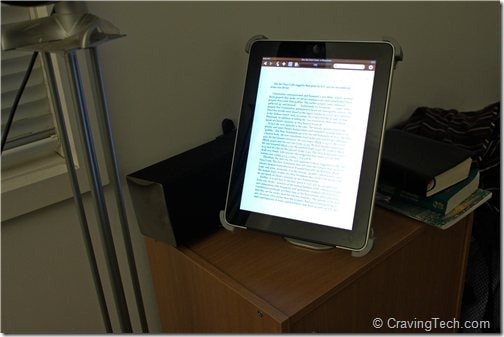 Titan iPad Stand Review - Bedside table