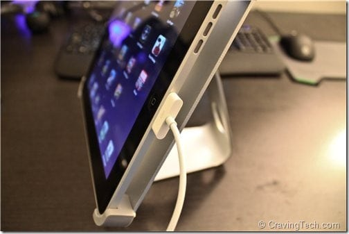 Titan iPad Stand Review -  recharging