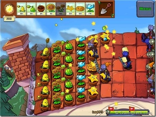 Plants vs Zombies Review - roof