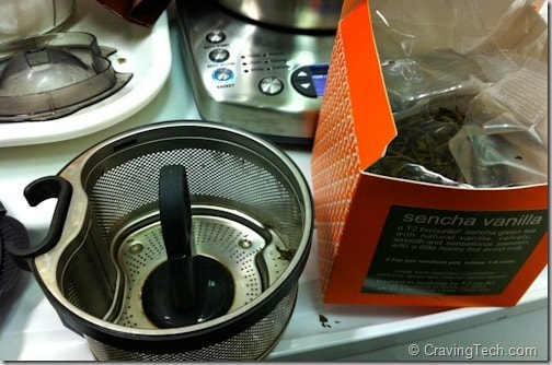 Breville Tea Maker Review - Tea basket