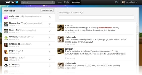 twitter message style