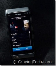 Nokia N8 Music player