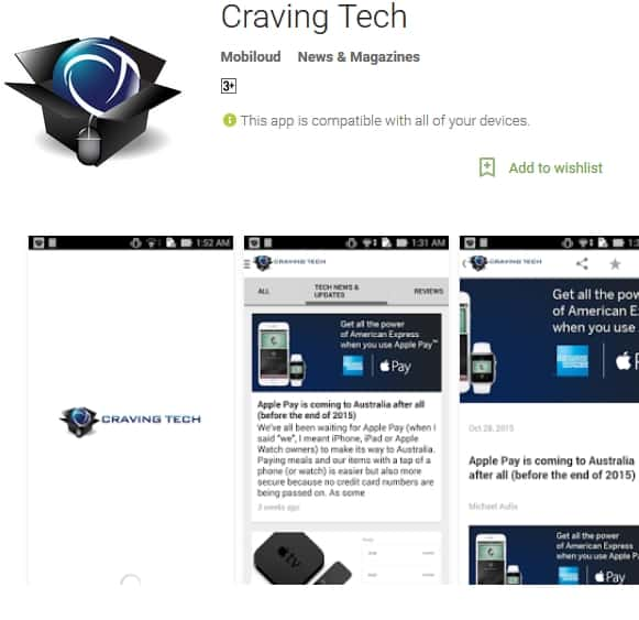 Craving Tech Android app