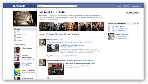 facebook new profile