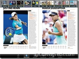 Australian Open 2011 iPad app - Player profiles 2