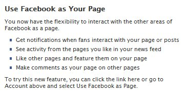 facebook fan page interaction