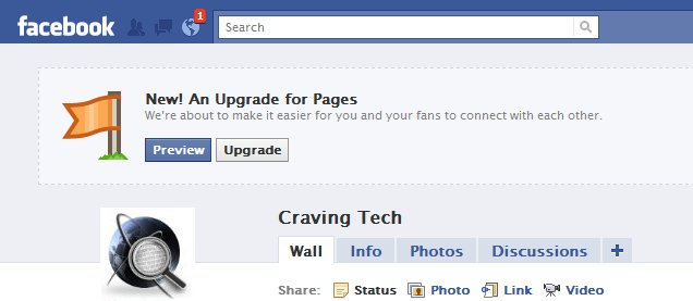 facebook fan page update